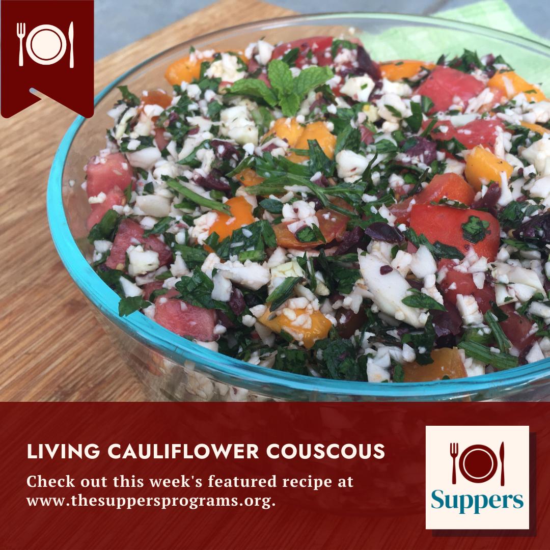 Living Cauliflower Couscous